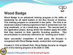wood badge