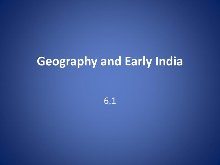 geography and early india n.
