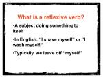 what is a reflexive verb