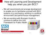 how will learning and development help you when you join bcc