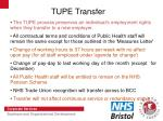 tupe transfer