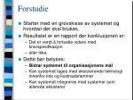 forstudie