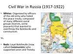 civil war in russia 1917 1922