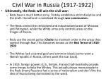 civil war in russia 1917 19221