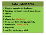asas umum apbs