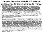 le poids conomique de la chine va d passer cette ann e celui de la france3