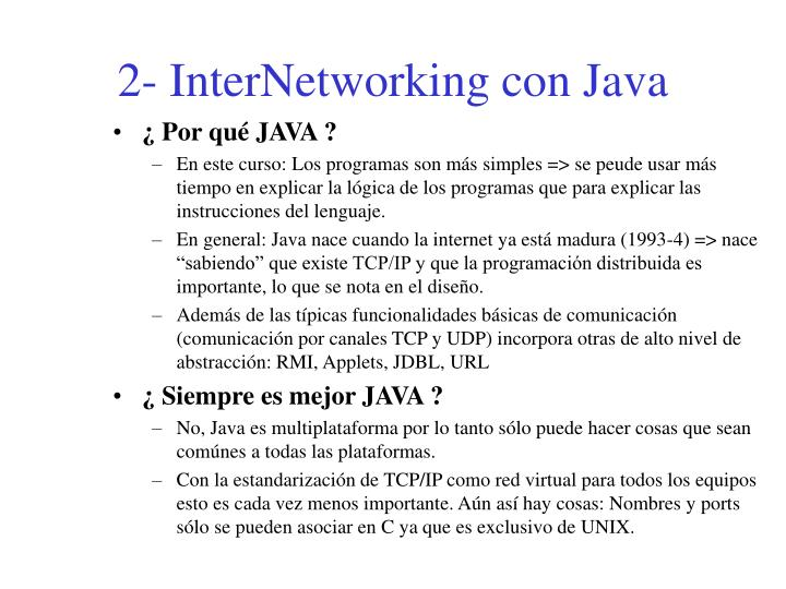 2- InterNetworking con Java