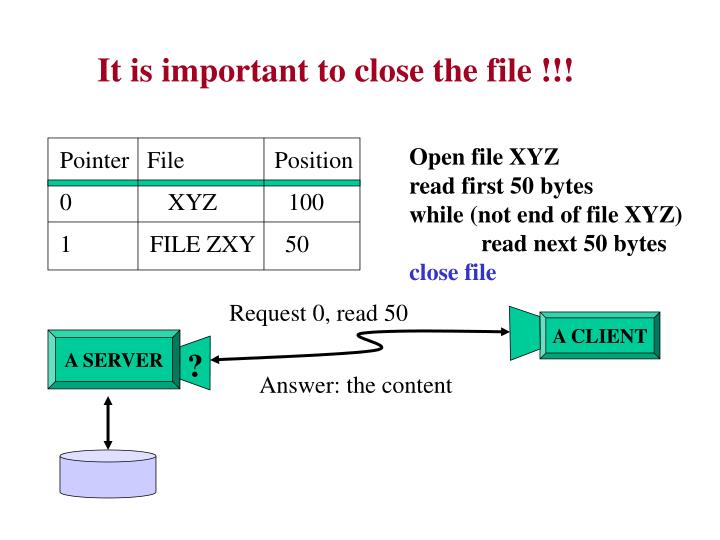 It is important to close the file !!!