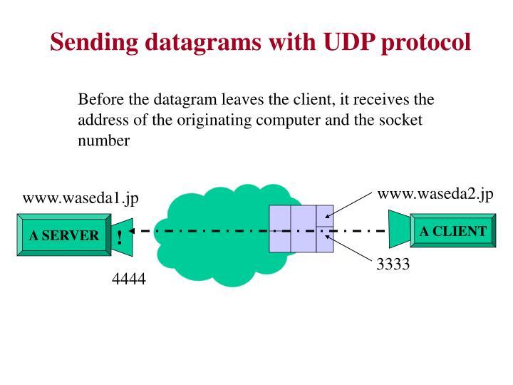 Sending datagrams with UDP protocol