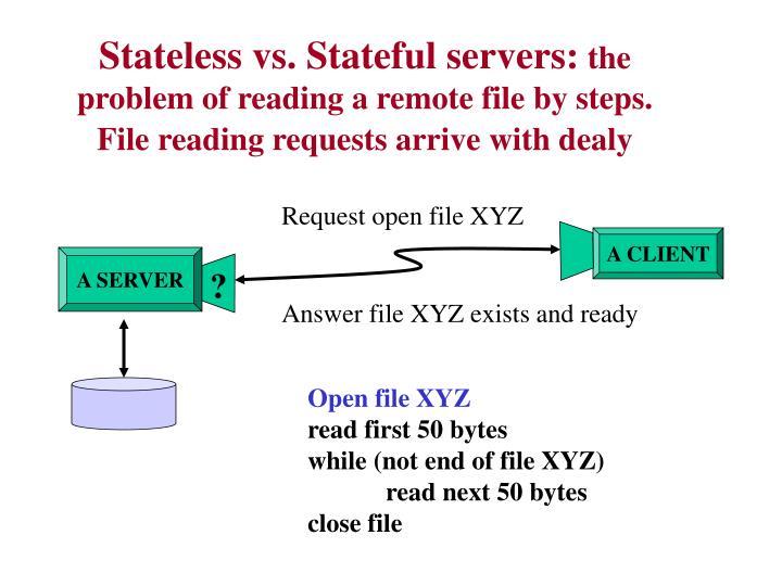 Stateless vs. Stateful servers: