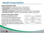 genetic fuzzy system