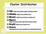 cluster distribution