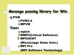 message passing library for win
