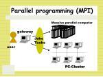 parallel programming mpi