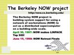 the berkeley now project