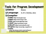 tools for program development