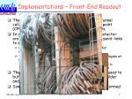 implementations front end readout