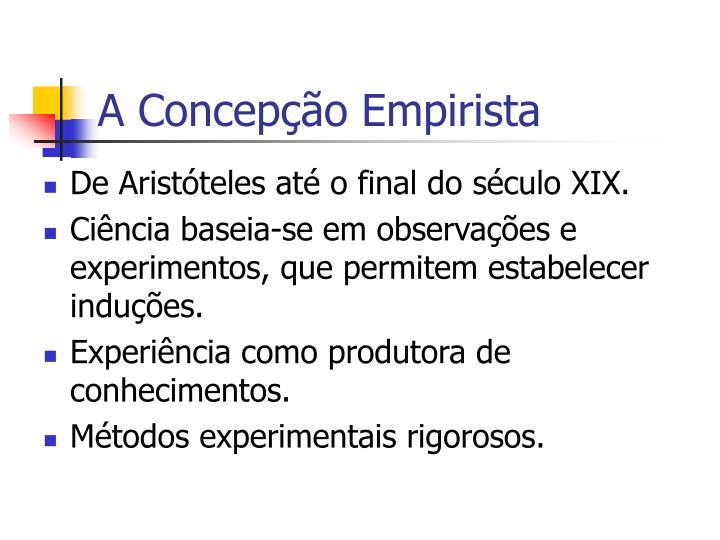 A Concepção Empirista