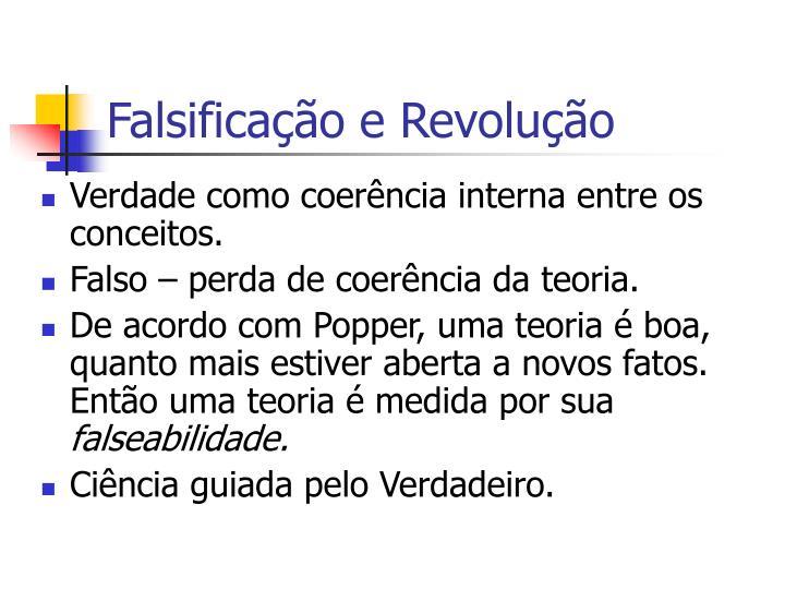 Falsificação e Revolução