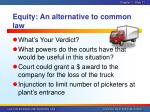 equity an alternative to common law2