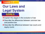 our laws and legal system