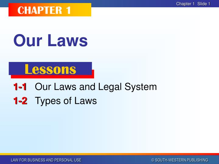 our laws n.