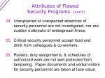 attributes of flawed security programs con t5