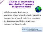 causes of increasing worldwide employee disgruntlement