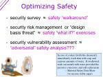 optimizing safety