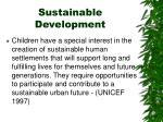 sustainable development1