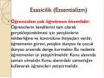 esasicilik essentializm2