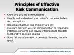 principles of effective risk communication