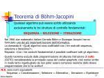 teorema di b hm jacopini