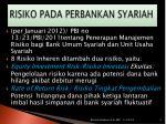 risiko pada perbankan syariah