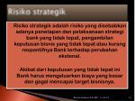 risiko strategik
