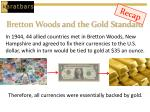 bretton woods and the gold standard