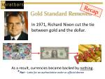 gold standard removed