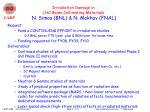 irradiation damage in lhc beam collimating materials n simos bnl n mokhov fnal
