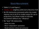 stock recruitment