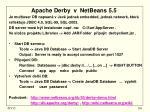 apache derby v netbeans 5 5