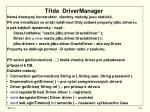 t da drivermanager