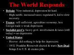 the world responds