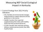 measuring nep social ecological impact in kentucky