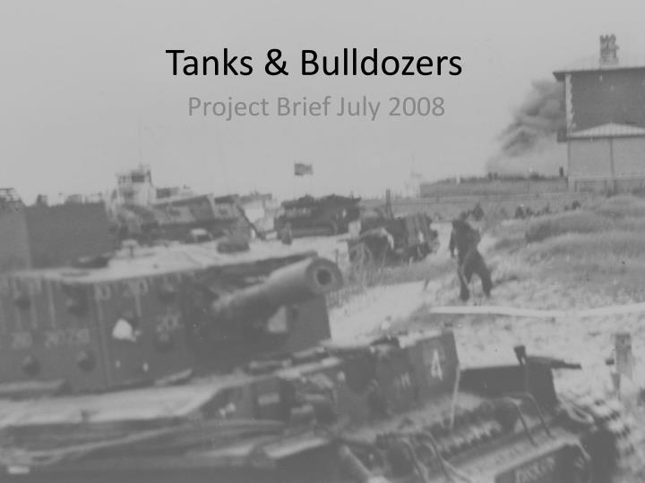 tanks bulldozers n.