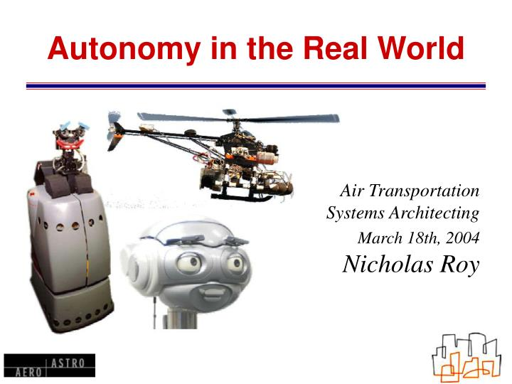autonomy in the real world n.