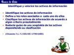 identifique y valorice los activos de informaci n