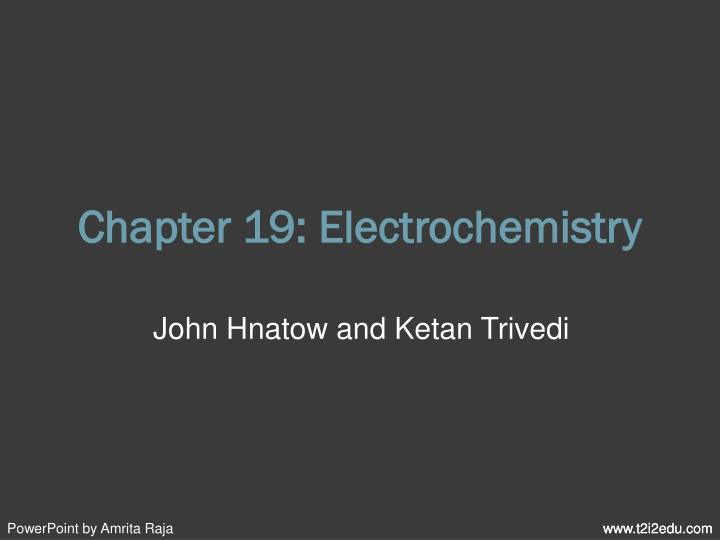 chapter 19 electrochemistry n.