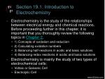 section 19 1 introduction to electrochemistry