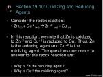 section 19 10 oxidizing and reducing agents