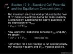 section 19 11 standard cell potential and the equilibrium constant cont6
